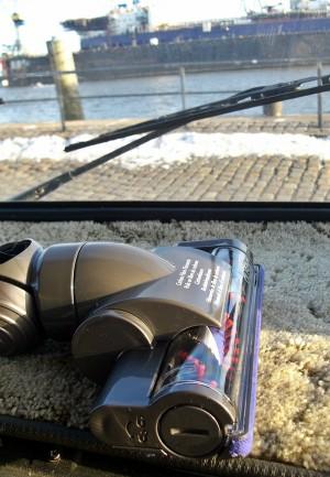 Akkustaubsauger, kabellos, stark genug für Teppich und perfekt für Hartboden.