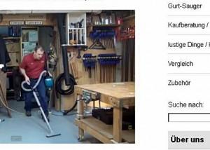 Makita Handwerker-Staubsauger mit Gurt